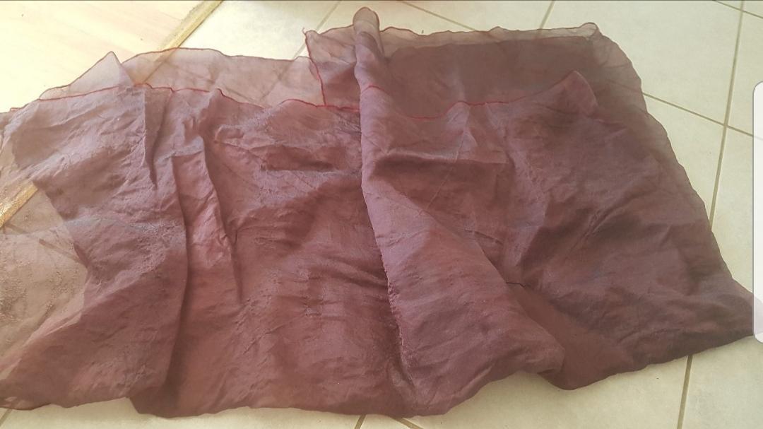 troc de troc nappe 2en textile synthétique violette image 0
