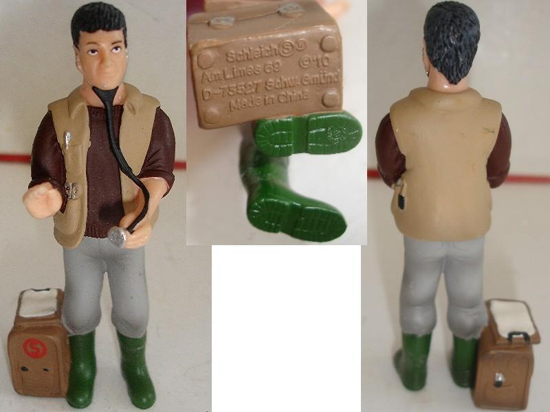 troc de troc figurine de qualité n° 3 : schleich / vétérinaire 9 cm image 0