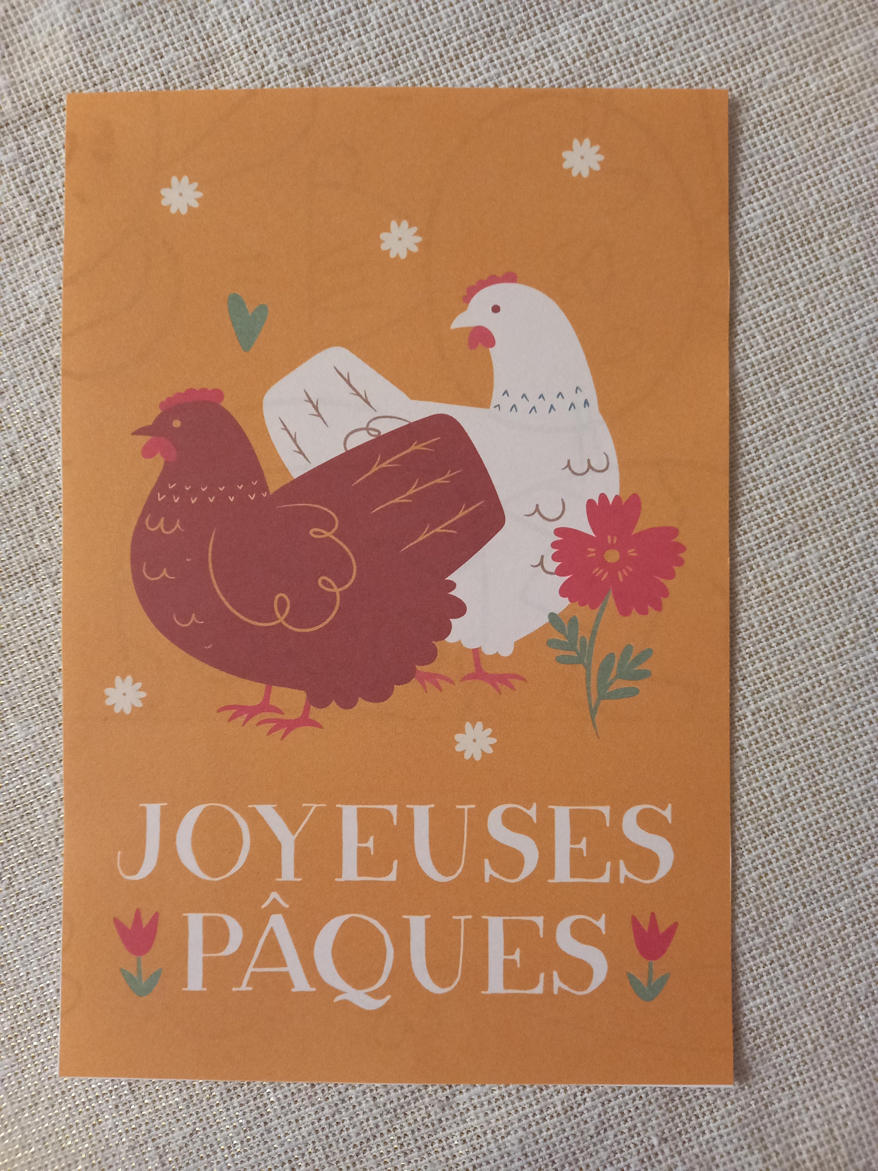 "troc de troc carte recto/verso ""joyeuses pâques"". image 0"