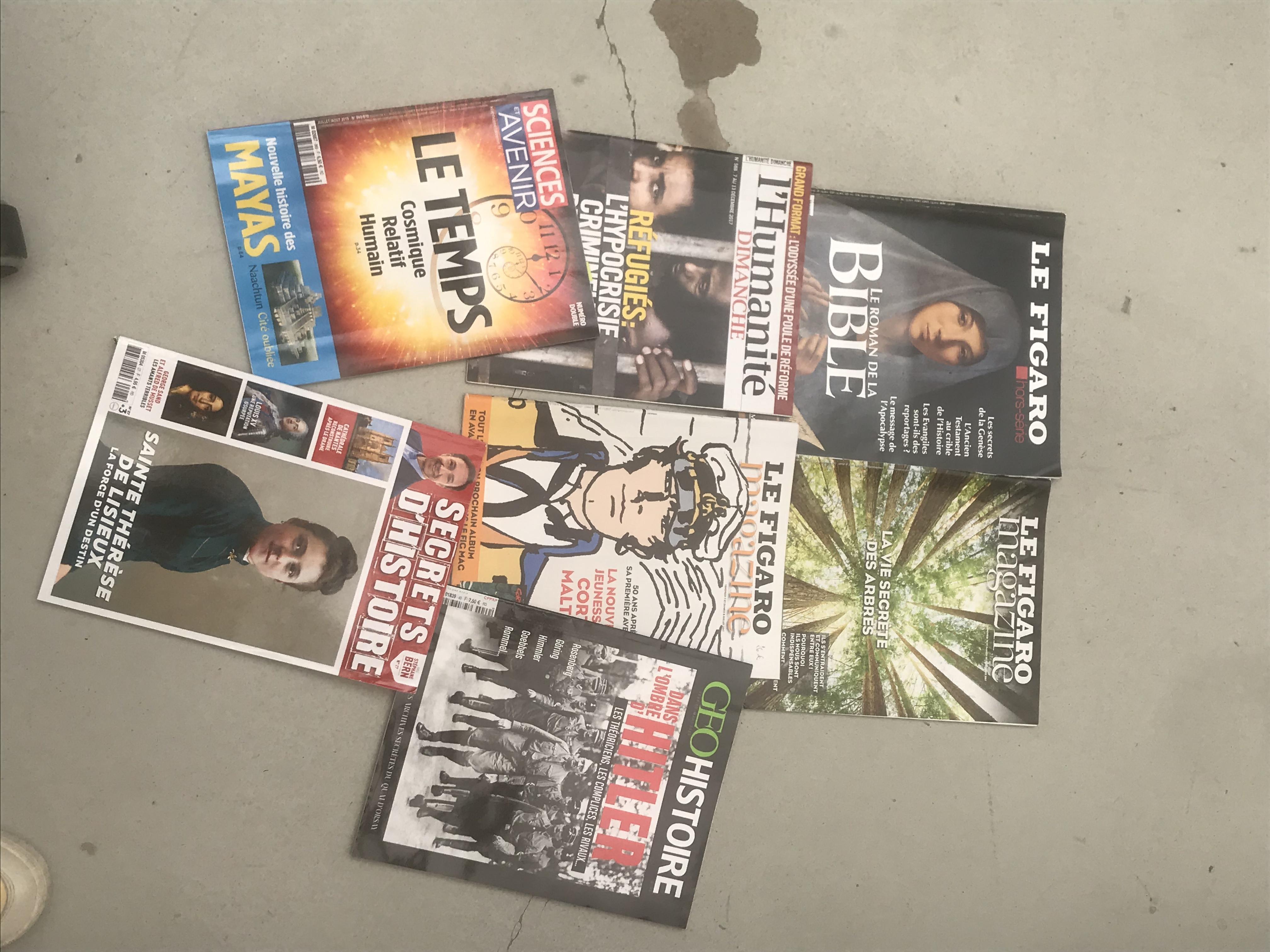 troc de troc lot de 7 magazines de culture générale image 0