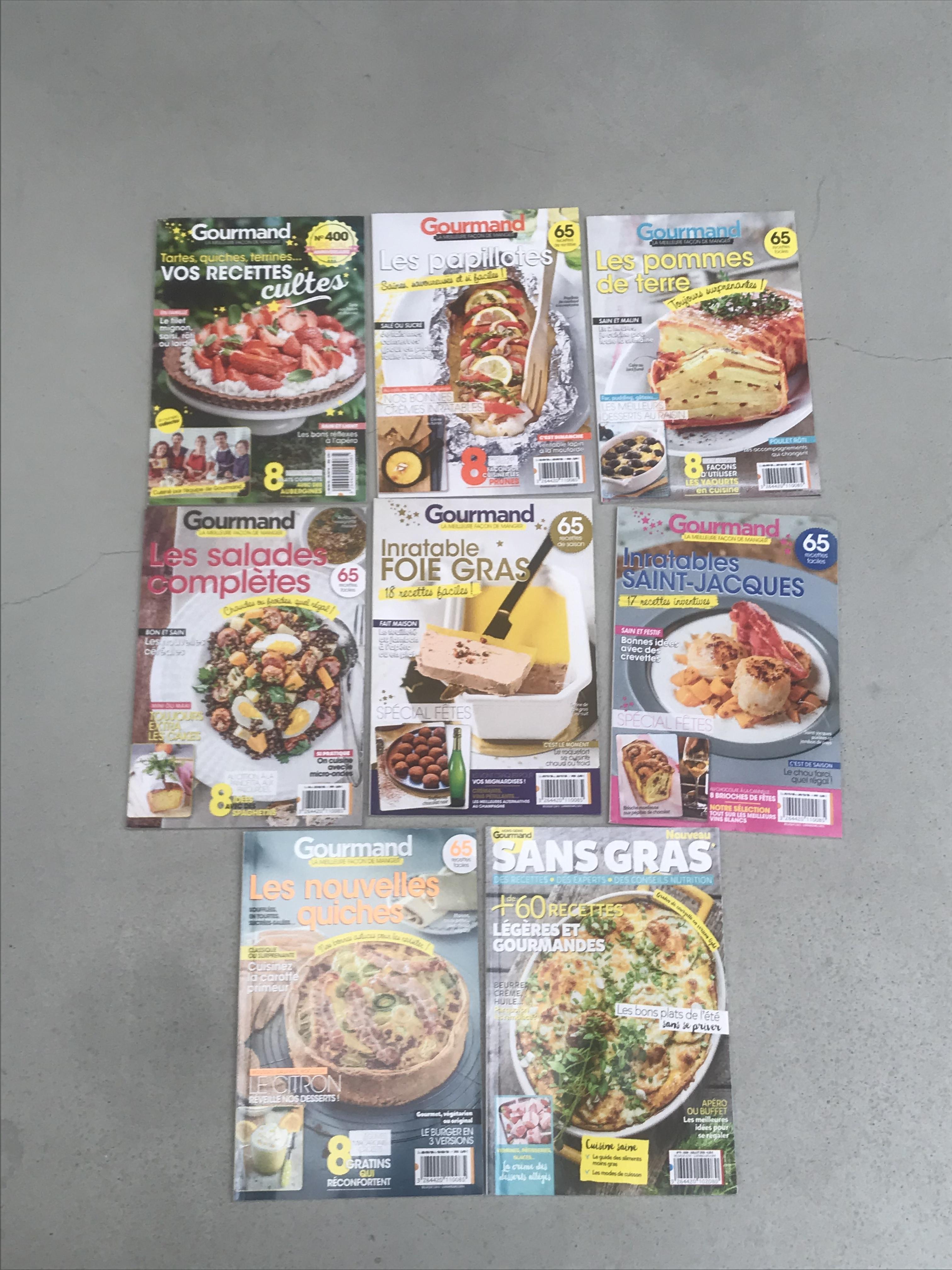 troc de troc lot de 24 magazines gourmand réservé image 0