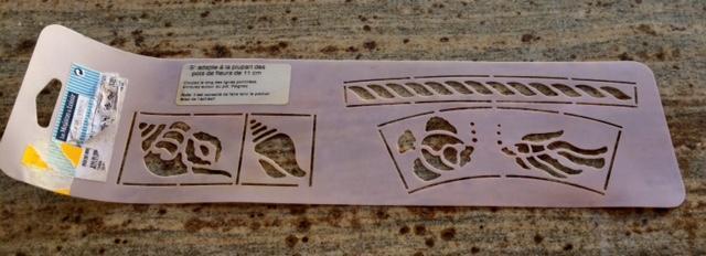 troc de troc lot 3 pochoirs plastique - thème océan - poissons, coquillages, hippocampes image 2